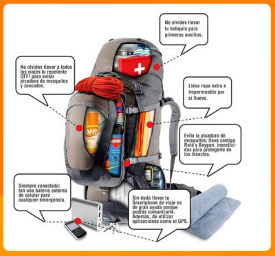 5 Cosas que no debes olvidar en tu mochila cuando vas de viaje