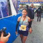 Inés Melchor venció en la Maratón de Miami 2016
