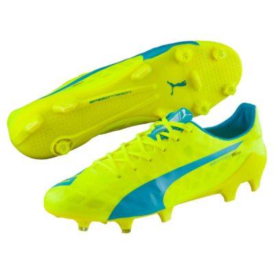 Botines Puma Azul Y Amarillo