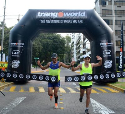 Los ganadores absolutos: Aldo Ramirez y Juan Francisco Navarro