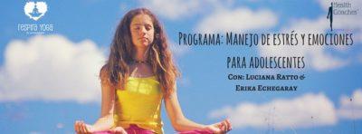 Programa: Manejo del estrés y emociones para  adolescentes