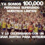 Ya somos 100,000 personas superando nuestros límites y lo celebramos con un gran sorteo