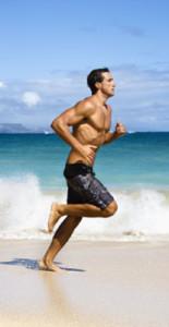 riesgos de correr en la playa