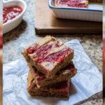 Receta: Barras de mantequilla de maní y mermelada de fresa casera